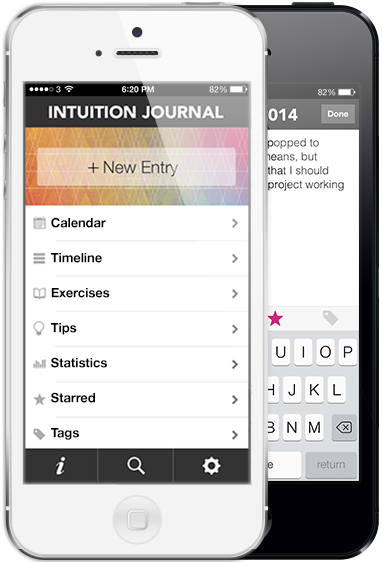 Intuition Journal - new iPhone app to strengthen your intuition.